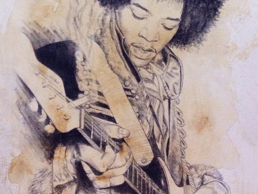 Jimi Hendrix. Ilustración de Victor Jerez