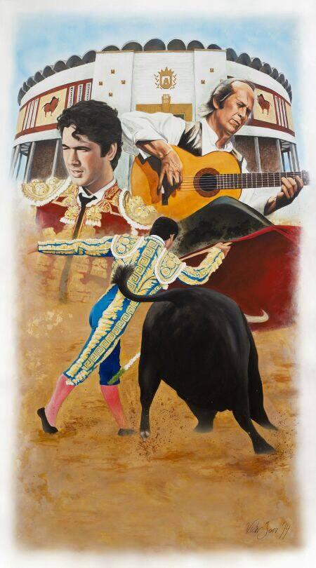 Obra original para el Cartel de Toros Algeciras 2014