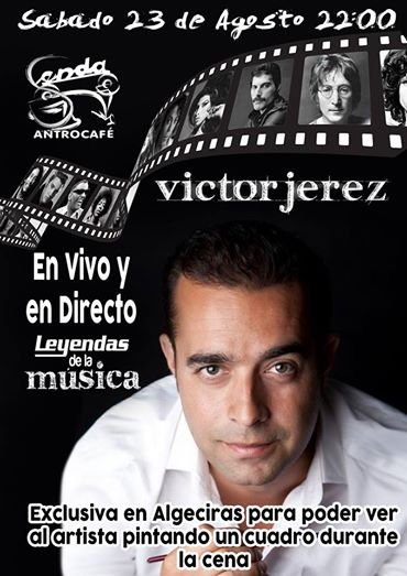Cartel del Evento de Víctor Jerez pintando a Montana's Quartet en directo
