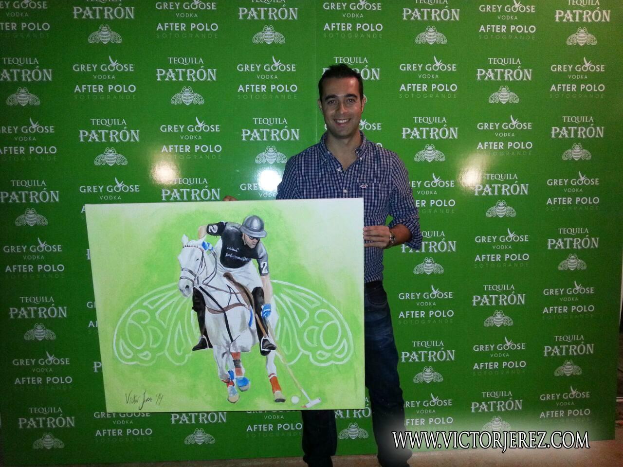 Obra realizada por Víctor Jerez para Tequila Patrón en After Polo Sotogrande