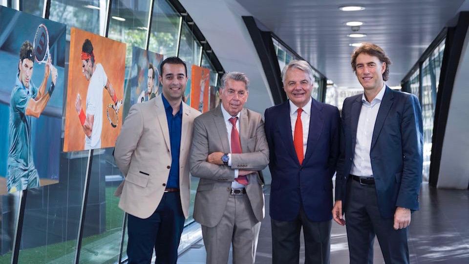 Los ganadores del Mutua Madrid Open, convertidos en obras de arte