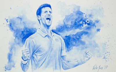 """Se presenta la primera colección mundial de acuarelas de tenistas profesionales para el """"Mutua Madrid Open"""" by Víctor Jerez"""""""