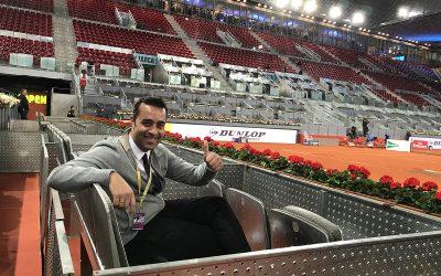 Víctor Jerez protagonista de éxito en el Mutua Madrid Open ´17