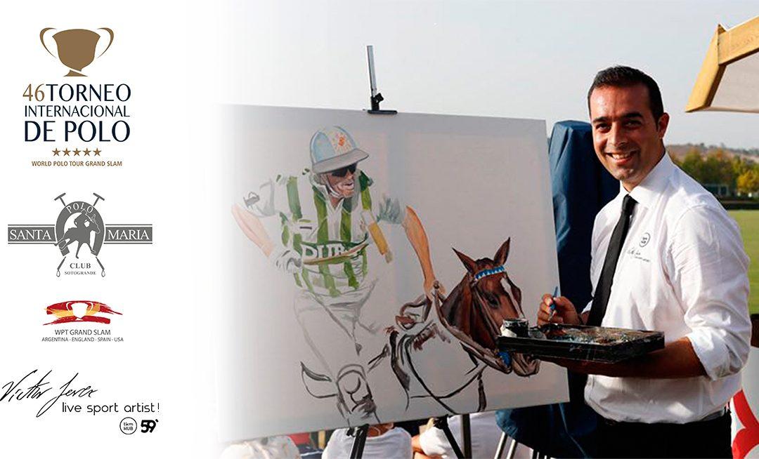 Víctor Jerez pintará en directo en la final de la Copa de Oro del Santa María Polo