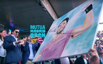 Víctor Jerez, el pintor de los deportistas, vuelve al Mutua Madrid Open