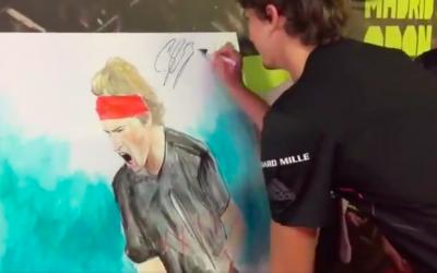 A. Zverev firma el cuadro de Victor Jerez en semifinales del Mutua Madrid Open 2018