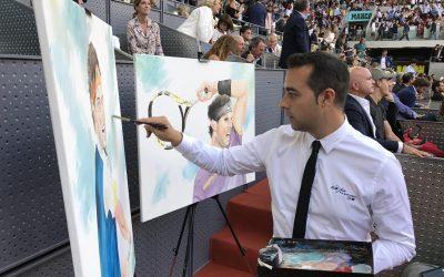 VÍCTOR JEREZ, EL PINTOR DE LOS DEPORTISTAS, EMBAJADOR DE LA FUNDACIÓN 59 MINUTOS, VUELVE AL MUTUA MADRID OPEN