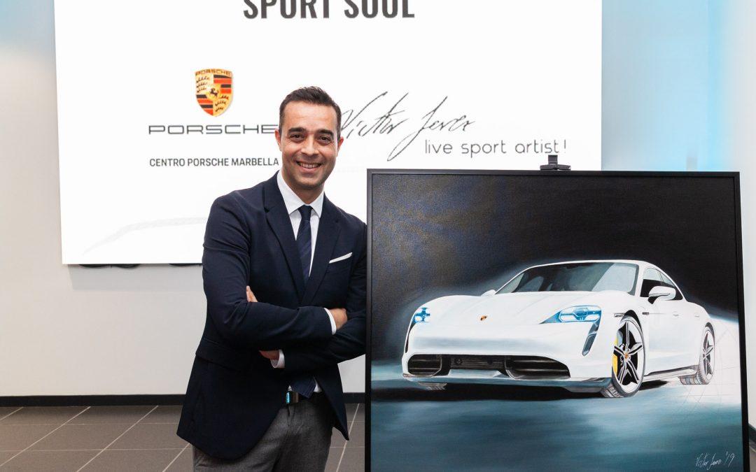 El pintor algecireño Víctor Jerez dedica una exposición a la marca Porsche