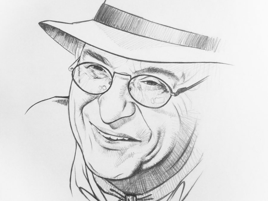 """Ilustración para el homenaje a Juan Luis Muñoz """"El Sabio de Tarifa"""" de Victor Jerez"""
