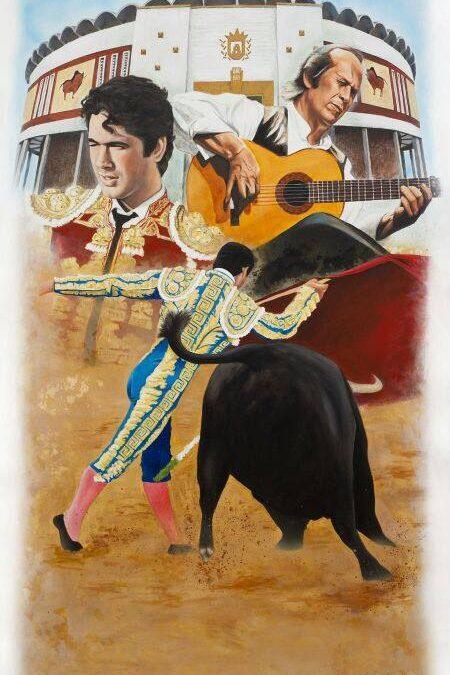Obra original de Víctor Jerez para el Cartel de Toros Algeciras 2014