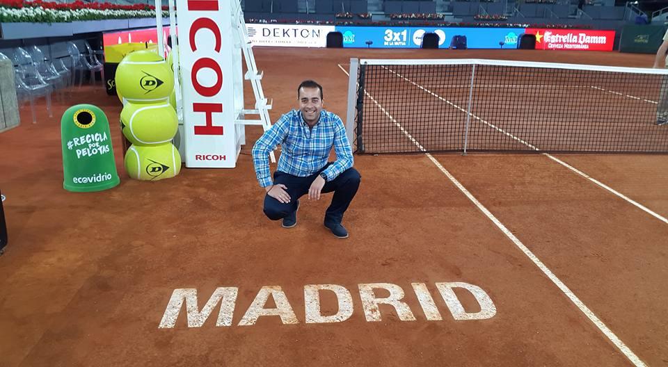 El algecireño Víctor Jerez convierte en arte a los tenistas del Madrid Open