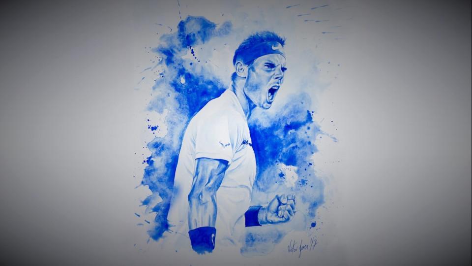 Víctor Jerez pinta a las estrellas del Mutua Madrid Open