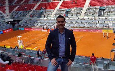 Víctor Jerez vuelve a dejar su sello artístico en el Mutua Madrid Open