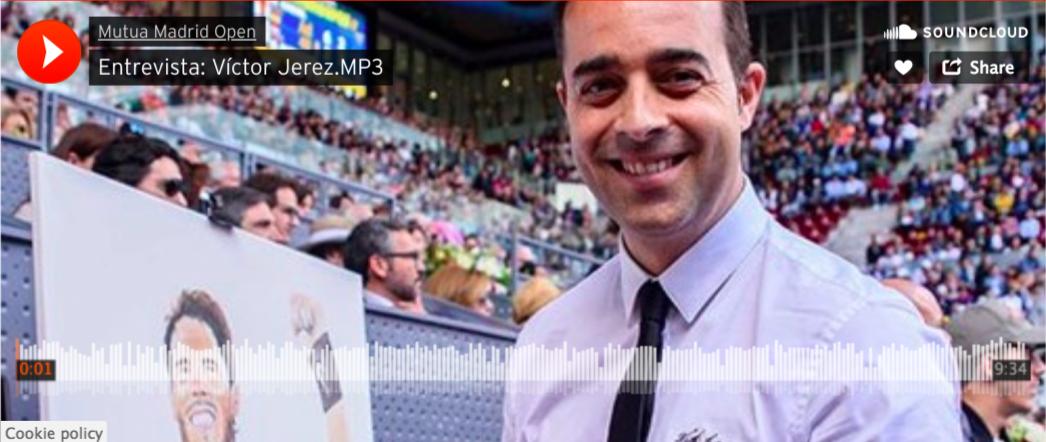 Entrevista Victor Jerez en Mutua Madrid Open 2018