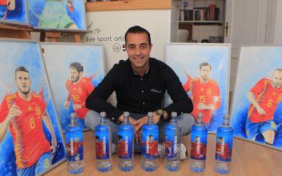 El algecireño Víctor Jerez, el pintor de «la Roja»