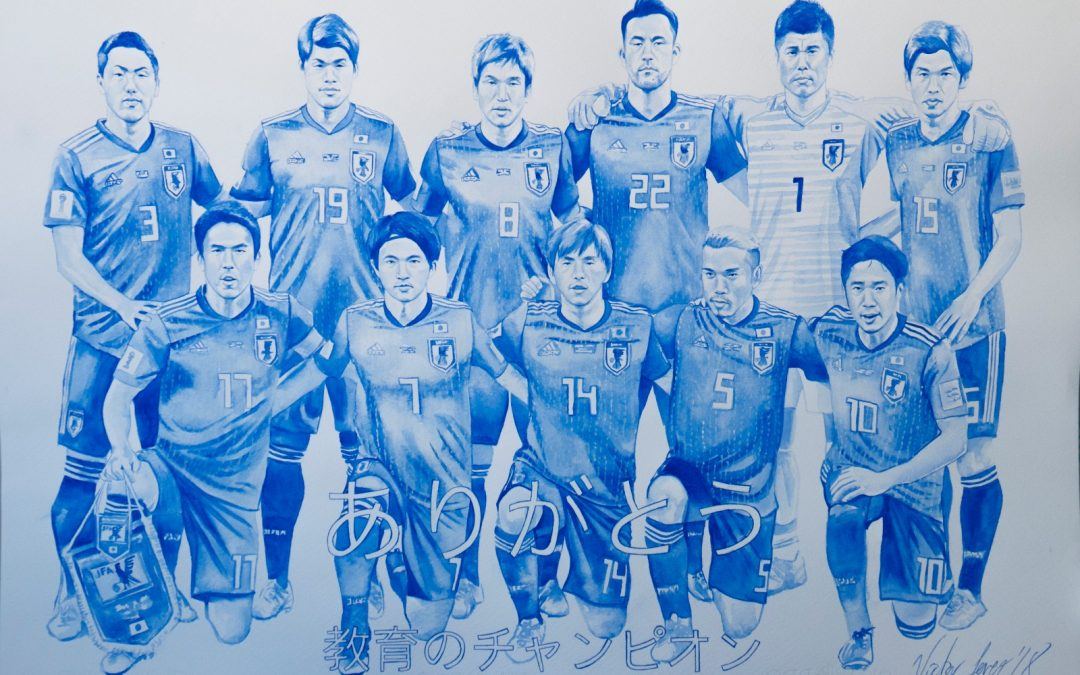 Victor Jerez rinde homenaje a la Selección Japonesa de Futbol a través de su arte