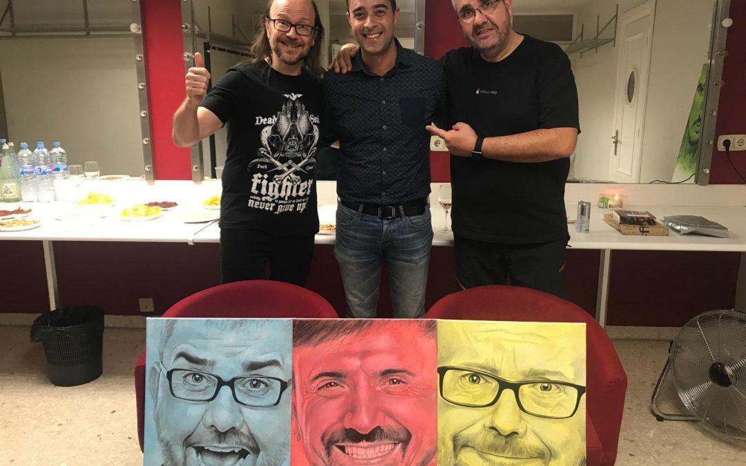 """Víctor Jerez comparte su arte con Florentino Fernández, José Mota y Santiago Segura en el estreno de su obra """"Dos tontos y yo"""""""