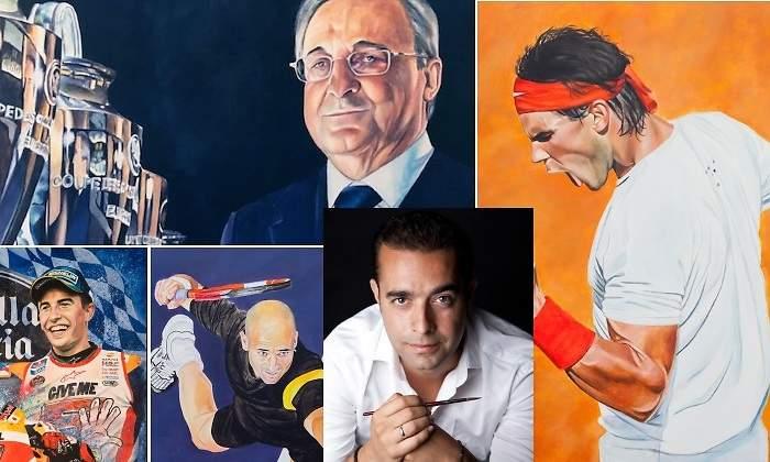 Futbolero y estibador: el hombre que se ha hecho famoso pintando a deportistas