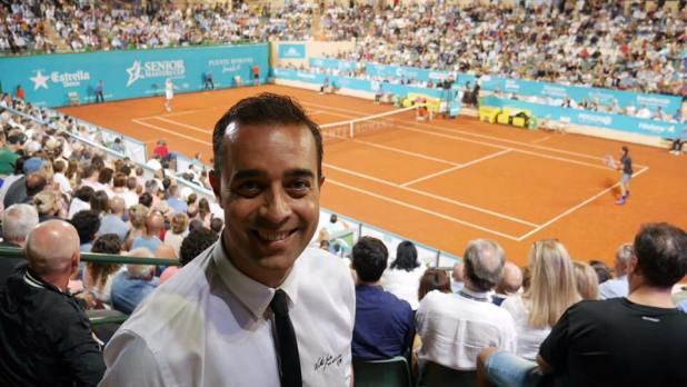 Víctor Jerez, el pintor de las grandes figuras del tenis mundial