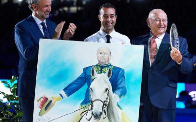 El homenaje de Víctor Jerez a Álvaro Domeq en Madrid Horse Week