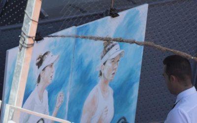 Retratos a la velocidad de un partido de tenis