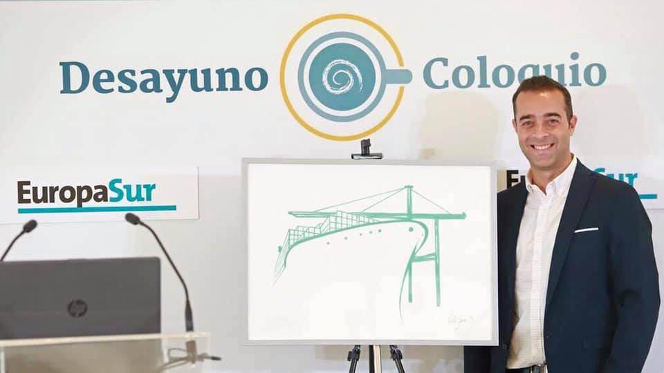 El artista Víctor Jerez diseña el logotipo de la sociedad de estiba de Algeciras